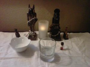 Impromptu Senut Shrine during Hurricane Irene