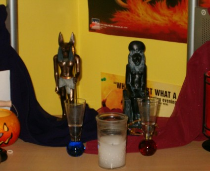 May 2007: Statues of my Parents arrive, shrine is reorganized.