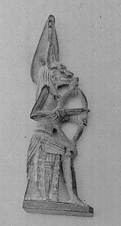 """Seated pantheistic figure of Wepwawet as jackal-headed archer"" from the Metropolitan Museum of Art, NYC"