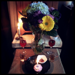 Some offerings I've made in my own shrine, on the occasion of the 7th anniversary of my Rite of Parent Divination.